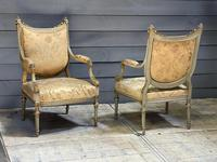Super Pair of French Upholstered Armchairs (22 of 26)