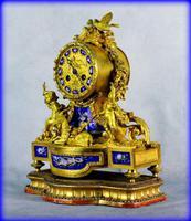 Fine Ormolu Porcelain Cherub Mantle Clock (9 of 10)