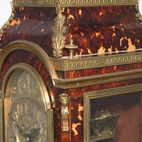 Tortoiseshell & Ormolu Mantel Clock (8 of 9)