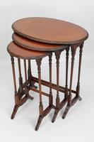 Antique Victorian Nest of 3 Mahogany Tables (9 of 13)