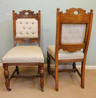 Antique Victorian Set of Eight Oak Dining Chairs (9 of 16)