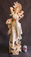 Impressive Large Antique Figure of Young Girl