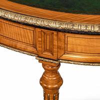 Unusual Victorian Freestanding Oval Satinwood Desk (8 of 12)