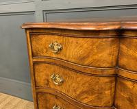 Waring & Gillow Burr Walnut Serpentine Chest of Drawers (3 of 15)