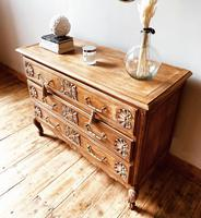 French Antique Style Oak Chest of Drawers / Drawers / Commode (2 of 5)