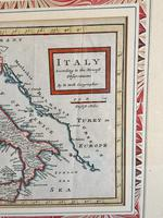 Original Map of Italy by Herman Moll Circa 1720, later framed (2 of 6)