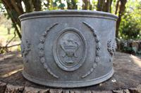 Lovely Victorian Lead Demilune Planter