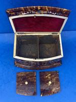 Victorian Tortoiseshell Tea Caddy with Mother of Pearl Inlay (10 of 20)