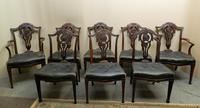 Set of 8 Mahogany Dining Chairs - H. Samuel, London
