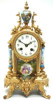 Wow! French Blue Sevres Mantel Clock 8 Day Striking Mantle Clock (7 of 12)