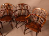 A Set of 4 Yew Tree Windsor Chairs Rockley Workshop (4 of 21)