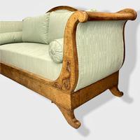 Walnut Biedermeier Sleight Style Sofa (8 of 10)