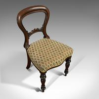 Antique Set of 6 Dining Chairs, English, Walnut, Balloon Back, Victorian c.1850 (5 of 12)