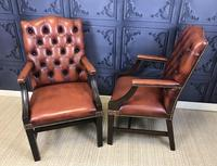Gainsborough Style Desk Chairs c.1930 (5 of 11)