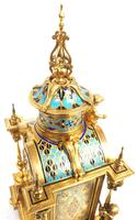 Incredible Antique French Champlevé Ormolu Bronze 8 Day Striking Mantel Clock c.1860 (10 of 13)