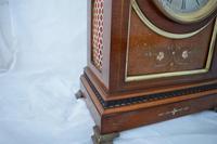 Quality Edwardian Inlaid  Mantel / Table Clock (3 of 6)