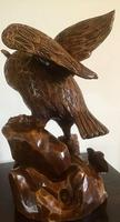 Large Hand Carved Wooden Owl (5 of 8)