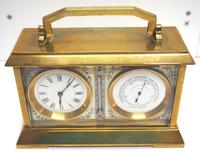 Fine Antique French 8-day Combination Thermometer, Clock & Barometer Carriage Clock Timepiece by Frodsham c.1890 (3 of 10)