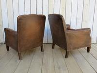 Pair of Antique French Leather Club Chairs (3 of 14)