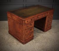 Exceptional Victorian Figured Walnut Desk (4 of 18)