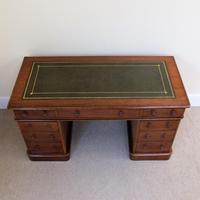 Mahogany Pedestal Desk c.1880 (2 of 6)