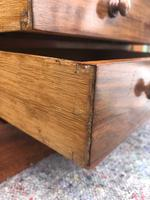 Antique Small Walnut Wellington Collectors Chest (7 of 10)