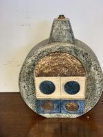 Troika Pottery Wheel Shaped Lamp Base