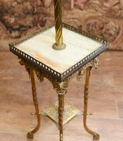Antique Gilt French Floor Lamp Table (11 of 12)