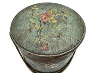 Antique Treen Hand Painted Sewing Box c.1915 (2 of 9)