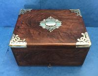 Victorian Brassbound Walnut Cigar Box (14 of 19)