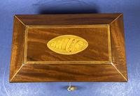 Regency Sarcophagus Mahogany Box with Shell Inlay. (5 of 12)