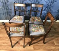 Set of Four Regency Style Dining Chairs by Gill & Reigate (6 of 12)