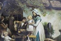 Pair of Early 19th Century Country Genre Scenes Oil on Canvas (2 of 21)