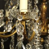 Italian 15 Light Gilded Bronze Antique Chandelier (6 of 10)