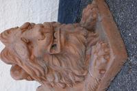 Mid 19th Century Pair of Ferocious Terracotta Lions (2 of 2)