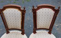 1960 Set of 10 Mahogany Dining Chairs. 8+2 Carvers. Neutral Upholstery (4 of 4)