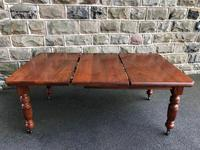 Antique Walnut Wind Out Extending Dining Table (9 of 13)