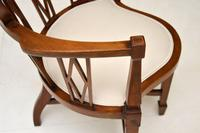 Antique Edwardian  Inlaid Mahogany Corner Chair (5 of 11)