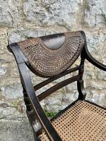 Single English Regency Painted Armchair (5 of 6)