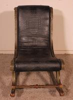 Polychrome Napoleon III Rocking Chair (9 of 10)