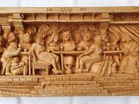 'Last Supper' High Relief Carving in Lime Wood, by Scottish Sculptor Alan Lees (3 of 9)