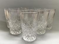 Superior Set of 8 Good Quality Cut Glass Water Tumblers (3 of 5)