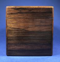 Victorian Single Lidded Rosewood Tea Caddy (11 of 13)