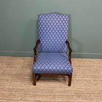 19th Century Antique Upholstered Armchair (3 of 5)