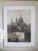 Lucien Gautier - Late 19th Century Etching of St Paul's Cathedral (6 of 6)