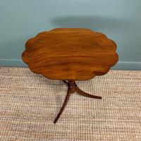 Victorian Mahogany Antique Tripod Occasional Wine / Lamp Table (3 of 6)