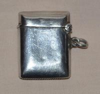 1903 Edwardian Birmingham Silver Vesta Case (2 of 5)