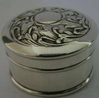 Beautiful Art Nouverau Sterling Silver Box London 1906 English Antique (2 of 6)