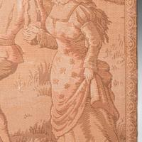 Antique Needlepoint Tapestry, Continental, Embroidered, Framed Panel, Victorian (5 of 8)