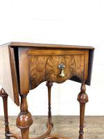 19th Century Walnut Drop Leaf Side Table (4 of 11)